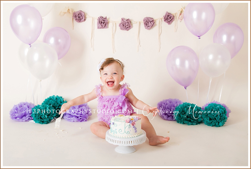 Miss Penelope Turns One | A Birthday Cake Smash Session
